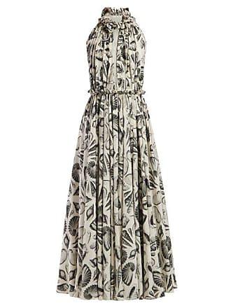 Alexander McQueen Robe de soirée en soie à imprimé coquillages 829caf188d5