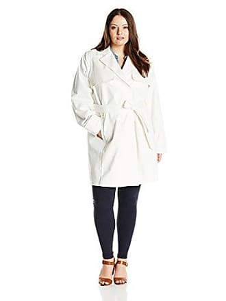0f1b2e7cff5 T Tahari Womens Plus-Size Milly Single Breasted Trench with Linen Lace