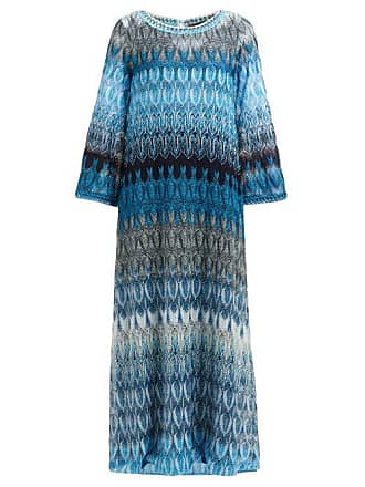 97b9a3cfe2cfd Missoni Metallic Leaf Print Maxi Dress - Womens - Blue Multi