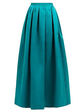 Rochas High Rise Duchess Satin Maxi Skirt - Womens - Green