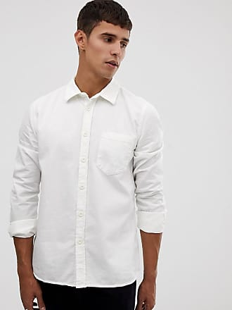 688b6d6119 Nudie Jeans Co Henry pigment dye shirt in off white - White