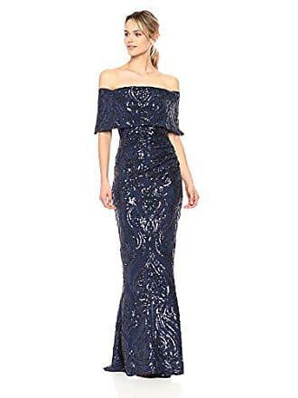 1b696ff9caa5 Betsy & Adam Womens Long Off The Shoulder Sequin Dress, ...