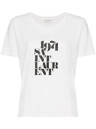 52ed3f1f Saint Laurent 1974 logo print cotton short sleeve t shirt - White