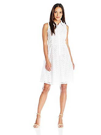 3f9e32ccdd63 London Times Womens Petite Branch Leaf Eyelet Fit and Flare