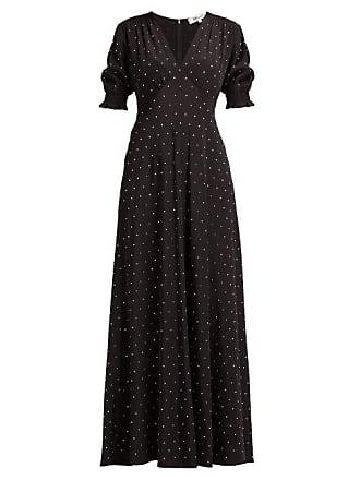Diane Von Fürstenberg Avianna Crystal Embellished Silk Maxi Dress - Womens - Black