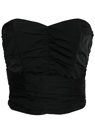 Rebecca Taylor Rebecca Taylor Woman Strapless Bow-detailed Ruched Taffeta Bustier Top Black Size 4