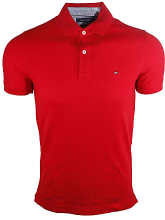 6484e5e6c Tommy Hilfiger Mens Stretch Slim Fit Mesh Polo Shirt (XX-Large, Red)