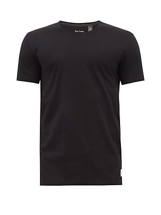 Paul Smith Overlocked Cotton Jersey T Shirt - Mens - Black