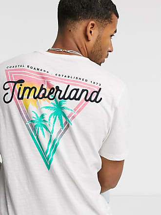 Timberland River back print t-shirt in white