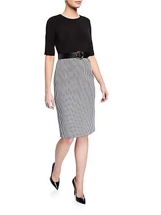 Iconic American Designer Twofer Checkered Sheath Dress w/Belt
