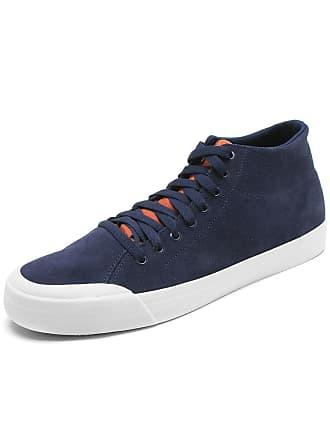 f5ab56aadeebe DC Tênis Couro DC Shoes Evan Hi Azul-Marinho