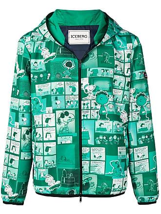 Iceberg Snoopy print hooded jacket - Green