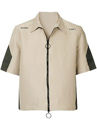 Ex Infinitas zipped shirt - Neutro