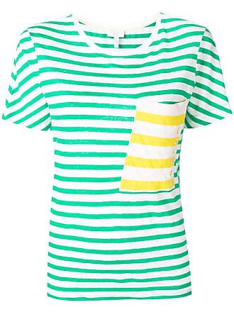 Escada Sport Camisa listrada com bolso - Verde