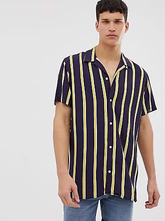 af3fca63b8d Jack   Jones Originals revere collar shirt with vertical stripe
