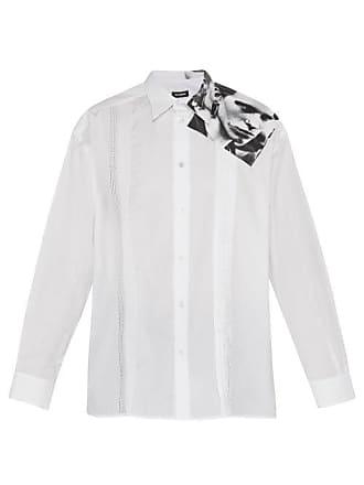 Raf Simons Punk Photo Print Cotton Shirt - Mens - White