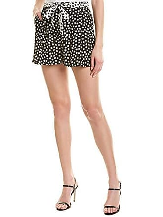 Nicole Miller Womens Perfect Pleated Short, Black Polka dots 12