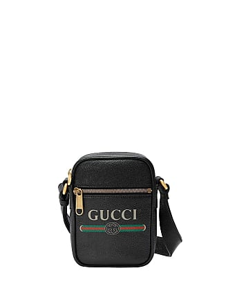 caca2b5343 Gucci Gucci print leather shoulder bag - Black