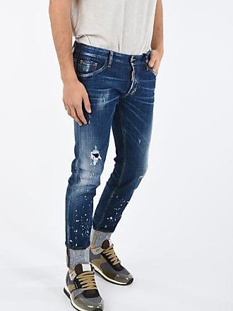 Dsquared2 Jeans REGULAR CLEMENT con Schizzi di Vernice 16cm taglia 54
