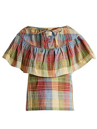 Ace & Jig Clifton Checked Cotton Blend Top - Womens - Multi