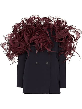 Y / Project 3D-frill wool-blend blazer dress - Blue