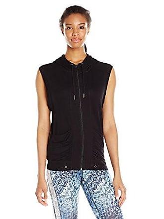 Karen Kane Womens Hooded Vest, Black, X-Large