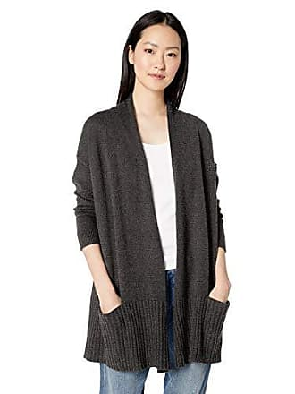 Daily Ritual Womens Cocoon Open-Front Cardigan Sweater, charcoal grey, Large