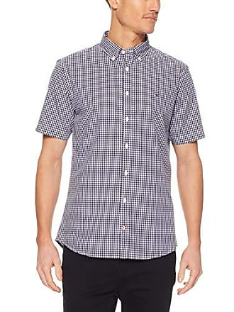 ee4ce3e3 Tommy Hilfiger Mens Gingham Check Poplin Shirt, Peacoat/Bright White,  XX-Large