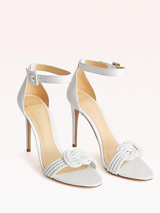 Alexandre Birman Vicky Braid 100 Sandal - 35.5 White Capreto Leather