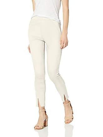 Hue Womens Sateen High Waist Skimmer Leggings, white satin, S
