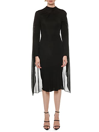 ff5ab6639cf Tom Ford Cape-Back High-Neck Long-Sleeve Jersey Cocktail Dress