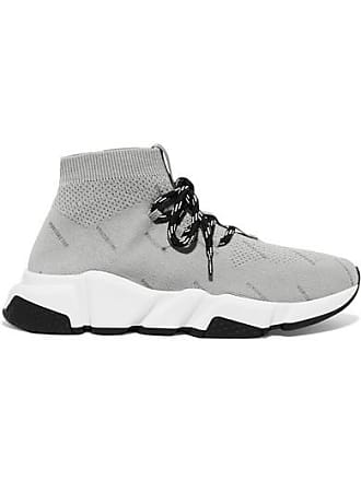 69b88d0972098 Delivery  free. Balenciaga Speed Logo-print Stretch-knit High-top Sneakers  - Gray