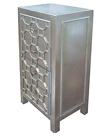 New Pacific Direct 2100001-AC Silvestro Small 4 Drawers Accent Cabinet, Antique Champagne