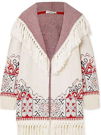 Philosophy di Lorenzo Serafini Hooded Tasseled Cotton-blend Jacquard Cardigan - White