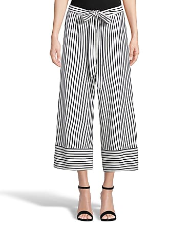 5twelve Striped Wide-Leg Cropped Pants
