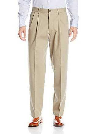 Dockers Mens Relaxed Fit Stretch Signature Khaki Pants - Pleated D4, Timberwolf (Stretch), 32W x 30L