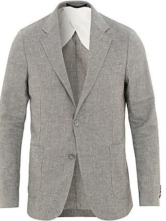 Oscar Jacobson Einar Cotton Linen Structure Blazer Grey 6973086237ad2
