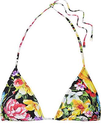 44afa3437d3806 Dolce & Gabbana Triangel-bikini-oberteil Mit Blumenprint - Schwarz