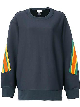 Facetasm oversized stripe detail sweatshirt - Preto