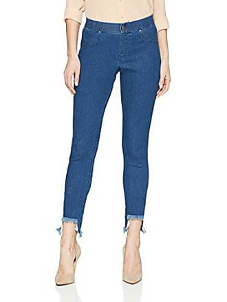 6a4fe37dc3d047 Hue Womens Hi-Low Step Hem Shipwrecked Denim Skimmer Legging, Medium wash,  XS