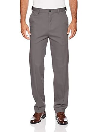 Haggar Mens Work to Weekend PRO Relaxed Fit Flat Front Pant, Charcoal, 38Wx34L