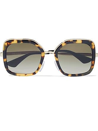 db791741c9de Prada Square-frame Tortoiseshell Acetate And Gold-tone Sunglasses - one size