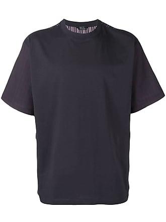 Qasimi striped colour block t-shirt - Blue