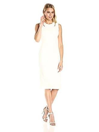 4460cc37 Calvin Klein Womens Shoulder Cut Out Sheath Dress, cream 4