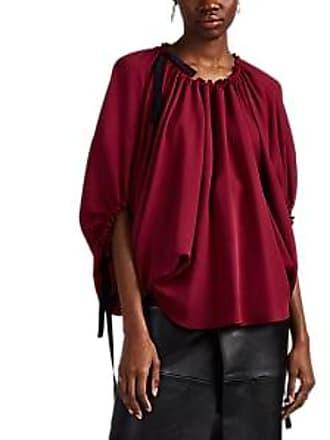 cef981fd366ea Derek Lam Womens Silk Crêpe De Chine Balloon-Sleeve Blouse - Plum Size 42 IT