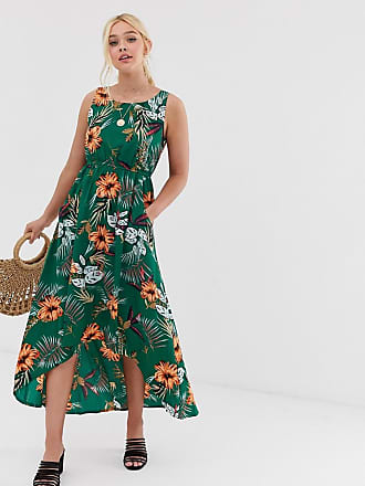 ba90bda63acd Qed London high low midi dress in tropical floral print