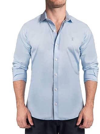 Sergio K. Camisa Stretch Lisa Azul