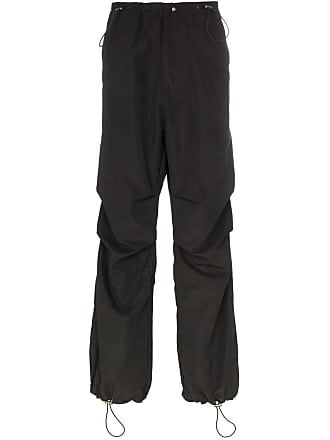 032c cosmic workshop drawstring work trousers - Black
