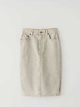 Acne Studios FN-WN-SKIR000078 Almond brown Denim pencil skirt