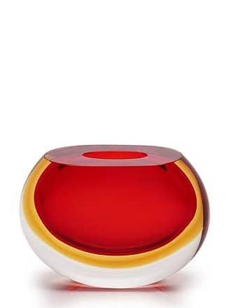 Cristais cá d'Oro Vasinho 92 Bicolor Vermelho com Âmbar